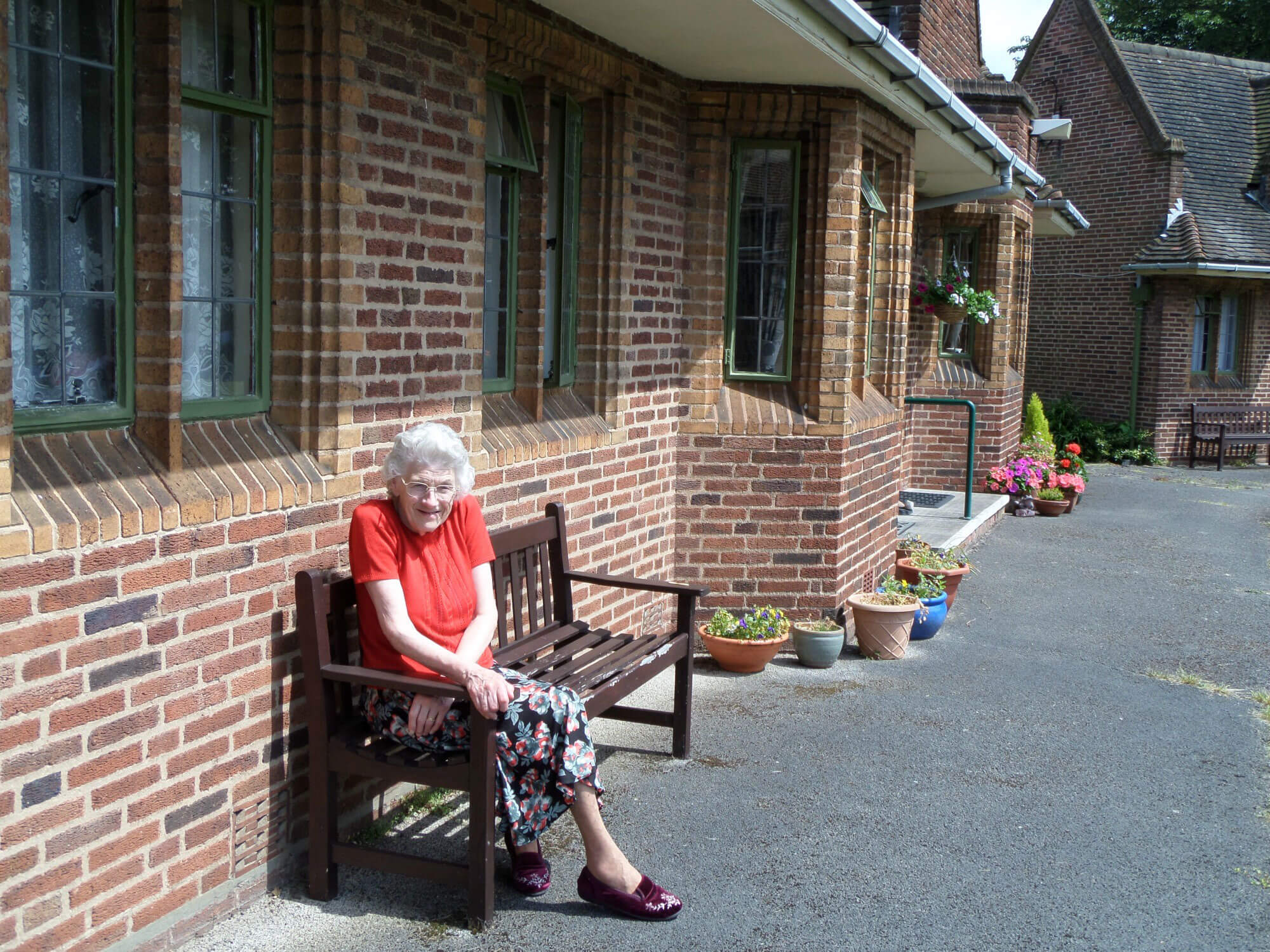 Elderly resident of Glover's Trust almshouses