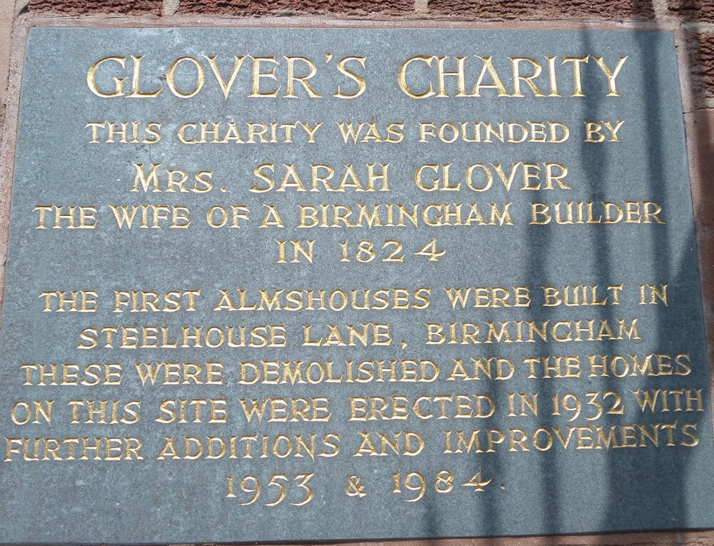 Glover's plaque