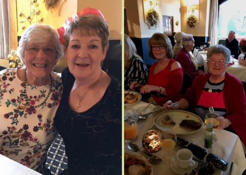 Residents at their Christmas lunch